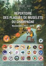 Répertoire Lambert des Plaques de muselet de champagne 2017-2018