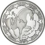 10 euros argent Année du cheval 2014