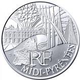 10 euros argent Midi-Pyrénées 2011