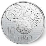 10 euros argent Semeuse Denier de Charles le Chauve 2014