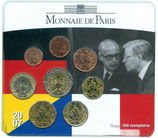 Mini-set BU euro - Valéry Giscard d'Estaing et Helmut Schmidt 2007