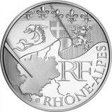 10 euros argent Rhône-Alpes 2010