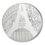 10 euros argent Rives de Seine Tour Eiffel 2014
