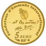 5 euros Abbé Pierre 2012 en or 1/25 oz
