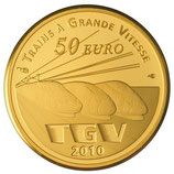 50 euros Lille Europe TGV 2010 en or 1/4 oz