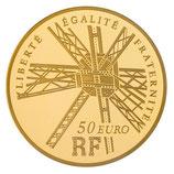 50 euros Gustave Eiffel 2009 en or 1/4 oz