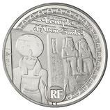 10 euros argent Egypte Temple d'Abou Simbel 2012