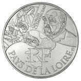 10 euros argent Pays de la Loire 2012