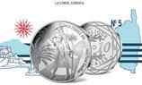 10 euros argent La Corse, Corsica 2017