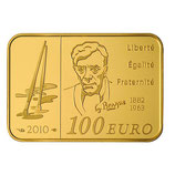 100 euros Georges Braque 2010 en or 1/2 oz
