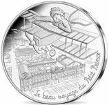 10 euros argent Petit prince en avion