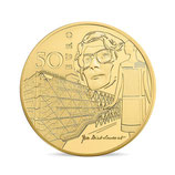 50 euros Europa 1/4 once or Epoque contemporaine 2016