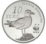 10 euros argent Le goeland d'Audouin WWF 2011