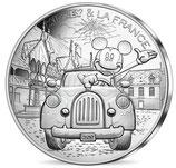 10 euros argent Mickey A fond la caisse 2018 20/20