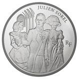 10 euros argent Julien Sorel 2013