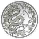 10 euros argent Année du dragon 2012