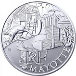 10 euros argent Mayotte 2011