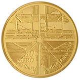 50 euros Centre Pompidou 2010 en or 1/4 oz