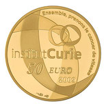 50 euros Institut Curie 2009 en or 1/4 oz