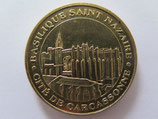 Médaille MDP  Carcassonne. Basilique Saint-Nazaire. Vue des remparts 2010