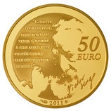 50 euros Cosette 2011 en or 1/4 oz