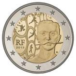 2 euros Pierre de Coubertin  BE 2013