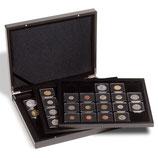 Coffret pour 60 pièces sous capsules QUADRUM 50x50mm noir