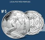 10 euros argent Les Alpes très pointues 2017