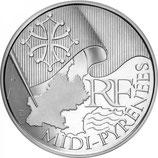 10 euros argent Midi-Pyrénées 2010