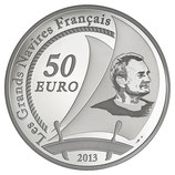 50 euros argent 5 onces Le Pen Duick 2013