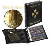 Album OPTIMA pour médailles souvenir avec médaille Tour Eiffel