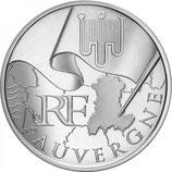 10 euros argent Auvergne 2010