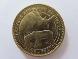 Médaille MDP Sigean. Réserve africaine. Le rhinocéros blanc et son petit 2013