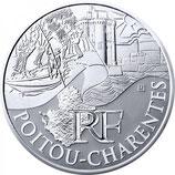 10 euros argent Poitou-Charentes 2010