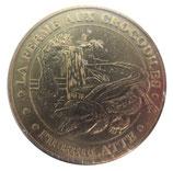 Médaille MDP Pierrelatte La ferme aux crocodiles (crocodile du Nil face cerclée) 2007