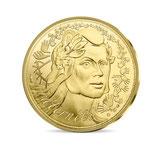 1000 euros Marianne Fraternité 2019 en or