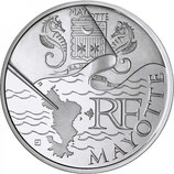 10 euros argent Mayotte 2010