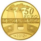 50 euros Le France 2012 en or 1/4 oz