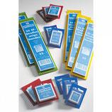SF-Pochettes, fond noir et transparent emballage bleu