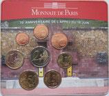 Mini-set BU euro - 70 éme anniversaire de l'appel du 18 juin -ROUGE- 2010
