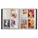 Album pour 400 cartes postales, noir, avec 50 feuilles reliées transparentes