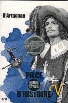 10 euros argent d'Artagnan 2019