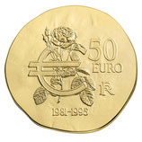 50 euros François Mitterrand 2015 en or 1/4 oz