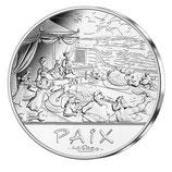 50 euros argent Astérix Paix Banquet 2015
