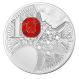 Pièce 10 euros argent Baccarat Excellence à la française BE 2014