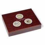 Coffret VOLTERRA TRIO de Luxe pour pièces de 2 euros commémo. de 2007 à 2012