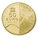50 euros Les rives de Seine 2014 en or 1/4 oz