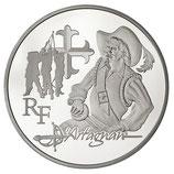 10 euros argent d'Artagnan 2012