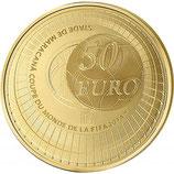50 euros coupe du monde de la FIFA Brésil 2014 en or 1/4 oz
