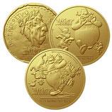 3 Médailles Astérix Domaine des dieux 2015